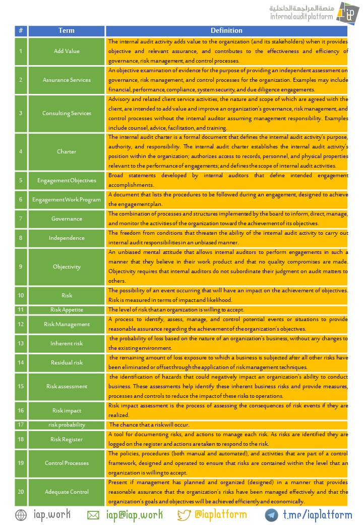 Definition on Audit field
